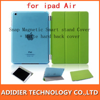 sale for Xmas 15sets Snap Magnetic Smart stand Cover + Matte hard back cover companion case for ipad 2/3/4 ipad air 5 Free Fedex