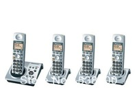 Free Shipping KX-TG1031 Cordless Phone with 4 Handset Digital Wireless Telephone Recording Answering System Home Phone