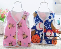 Free shippig baby Wool-like fleece fur coat thick blends foral fashion sleeveless tees vest with hat hooded charactr outerwear