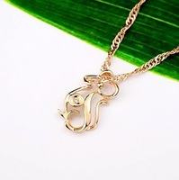 Wholesale & Retail for 18K Rose Gold Plated Pendant with Clear Cubic Zirconia (RA0073)