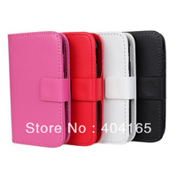 DHL Free Shipping PU Leather Wallet Stand Case For Samsung Galaxy Y S5360