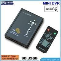Super 1-ch SD card video recorder portable 1-ch DVR Micro 1-ch SD card video recorder MINI DVR