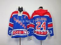 ICE Hockey Hoodies New Jersey NY Rangers #24 Ryan Callahan Blue  Hoody Sttiched Callahan Hockey