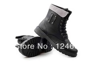 Autumn and winter flats men boots personality medium-leg fashion martin boots for men