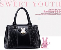 free shipping cute rabbit woman handbag korea style high quality drop shipping new arrival lady shoulder bag 170693