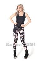 2014 New brand black milk for women'speachblossom 3D print leggings spring autumn summer fitness galaxy pencil disco pants