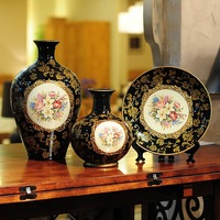 Fashion decoration fashion vintage mohini colored drawing technology home decoration gift three pieces set