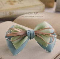Xlr blue handmade bow hair accessory accessories side-knotted clip headband