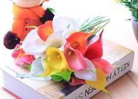 Green PU calla artificial flower artificial home accessories artificial flower silk flower single