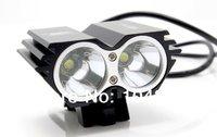 20pcs/ Lot free shipping 5000 Lumen 2x CREE XM-L T6 LED Bike Bicycle Light Headlamp Flashlight
