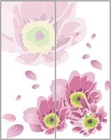FREE SHIPPING! Flower wardrobe stickers sliding door stickers glass stickers window film 60*80CM