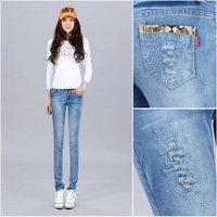 Hole 2013 autumn slim skinny jeans pencil pants female