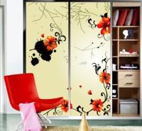 Splashed paint colorful 2 piece window films /door stickers/glass stickers/window stickers/switch stickers a082