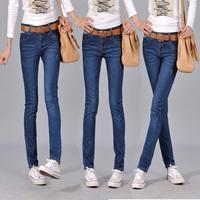 2013 spring and summer butt-lifting female jeans slim pencil pants denim skinny pants female
