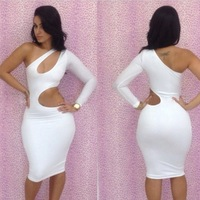 free shipping Sexy women dress sexy slim hip slim one-piece dress one-piece sexy bodycon dress