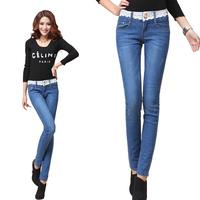 2013 female spring lace elastic jeans female skinny pants