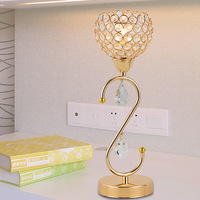 Modern brief dimming gold crystal pendant decoration table lamp art lamp ofhead frtl t52