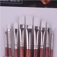 NYLON hair-white FLAT TOP painting brushes For Acrylic,Oil and Watercolor