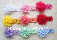 Wholesale big chiffon flowers baby headband /baby photography props/children accessories MX012
