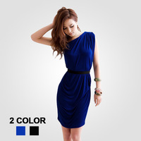 Fashion party dress 2013 new dresses elegant Lady's one-shoulder sexy mini skirt free shipping #S0278