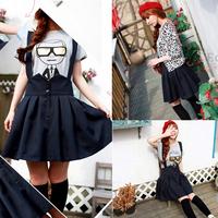 Plus size clothing bust skirt mm slim elegant pleated skirt braces skirt 18508