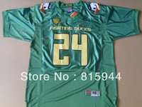 College Oregon Ducks #24 Thomas Tyner green with mascot patch ncaa football jerseys mix order free shipping