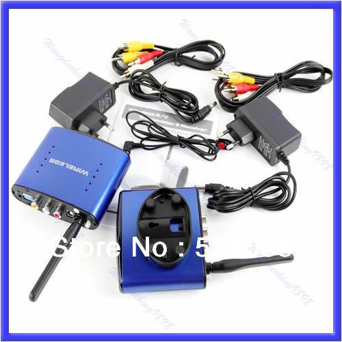 B39Free Shipping 5.8GHz AV Sender Wireless Transmitter Receiver IR original Adapter PAT530(China (Mainland))