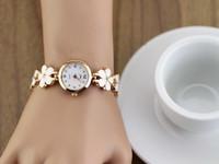 New Brand  Stainess Steel Strap Leaf Clover Lady Fashion High Quality Luxury Quartz Watch Free Shipping XWT007