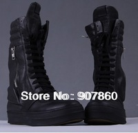 FREE SHIPPING!!! Black men's fashion leather boots newest sport shoes ,Fashion sports shoes