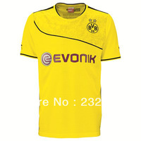 New 13/14 Dortmund Home christmas Blank Yellow shirt Soccer Jerseys Cheap 2013-2014 football kit free shipping