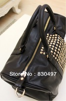 2ag bag-003 hot sale Mango women's handbag mng bag mango metal rivet women's handbag bag shoulder bag cool black color free