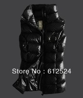 Black/White winter lady vest on sale  warmly sown vest for women fashion winter coat