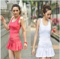 2013 milk, silk sports short yoga clothes tennis vest female tennis ball dress set summer