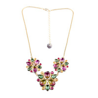 2013  fashion accessories multicolour flower pendant short design necklace vintage big brand fashion jewelry 6907