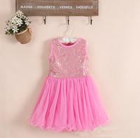 Baby Girl  Sequin Tutu Dress, Princess Party Dance Dress, 5  pieces/lot