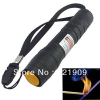 High power 500MW red Powerful Laser Pointer beam with Battery ignite match Flashlight