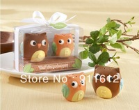 New Arrival Owl Always Love You Ceramic Salt and Pepper Shakers Baby shower favors and gifts 100 SET Free Shipping