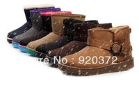 2014newWinter classic boots and velvet style restoring ancient ways is han edition England short cylinder for women's shoes