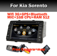 Special Car DVD player for Kia Sorento Wifi 3G S100 A8 GPS  Bluetooth TV USB SD IPOD Steering wheel control Free Camera