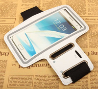 1PCS Free Shipping, Exercise Armband Case / Armband Cover / Armband Pouch for Samsung N7100 Note II Note2, 10 Colors