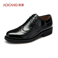 Aokang 2013 wax calf skin leather brockden carved cutout shoes fashion male the trend of shoes