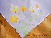Big handmade stitch measurement handkerchief exquisite handmade flowers handkerchief thin soft 41cm