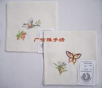 Handkerchief handkerchief embroidery women's embroidery handkerchief hand embroidery orchid