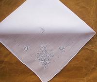 Embroidery 100% cotton handkerchief handmade embroidery handkerchief white fashion women's child
