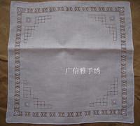 Handmade cutout handkerchief towboats 100% cotton embroidery