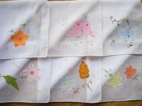 Handmade handkerchief applique traditional flower handkerchief