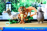 DreamWorks Madagascar toy doll ornaments lion zebra giraffe hippo 4 full   BJ107