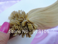 Christmas present! Fashion silky straight flat tip hair extension #22 medium blonde 3pcs/lot FREE SHIPPING