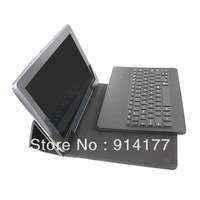 "For Samsung Galaxy 10.1"" Bluetooth keyboard leather case wireless bluetooth keyboard for iPad Black"