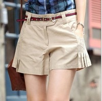 Summer 2014 new Korean women's shorts hem skirts pure cotton woman's shorts All-match  Free shipping